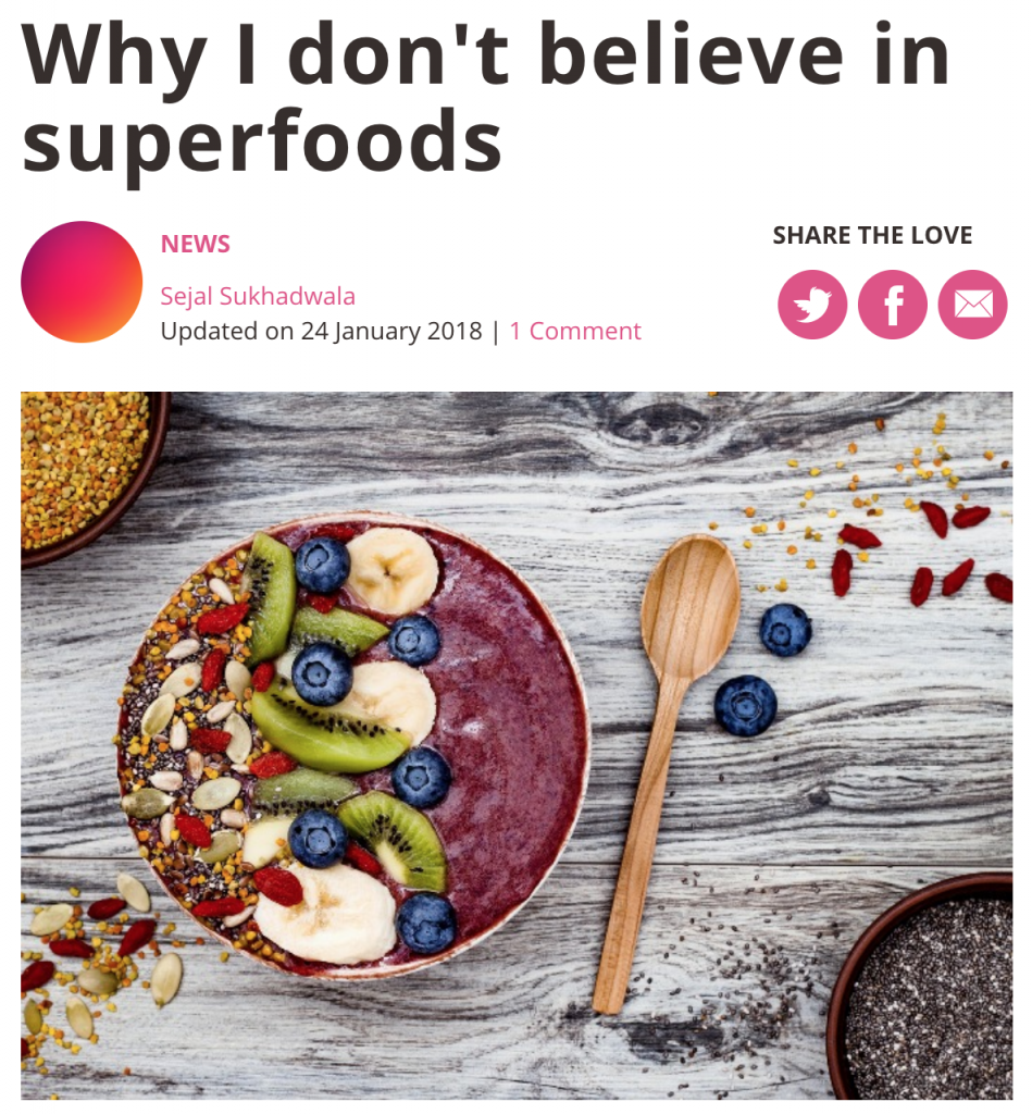 Why I don't believe in superfoods